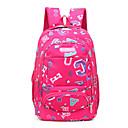 ราคาถูก School Bags-ไนลอน แพทเทิร์นหรือลายพิมพ์ กระเป๋าโรงเรียน โรงเรียน สีดำ / น้ำเงินเข้ม / สีบานเย็น