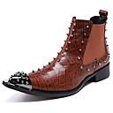 ราคาถูก รองเท้าผ้าใบผู้ชาย-สำหรับผู้ชาย Fashion Boots แน๊บป้า Leather ฤดูหนาว ไม่เป็นทางการ / อังกฤษ บูท รักษาให้อุ่น บู้ทสูงระดับกลาง สีน้ำตาล / พรรคและเย็น / รองเท้าเชลซี / หมุดย้ำ / พรรคและเย็น / รองเท้าคอมแบท