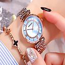 baratos Brincos-Mulheres Relógio Elegante Quartzo Aço Inoxidável Prata Impermeável Analógico Casual Fashion - Branco Azul Rosa claro