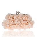 povoljno Dizajnerski nakit-Žene Kristalni detalji / Cvijet Poliester / Legura Večernja torbica Kristalne vrećice od kristalnog kamena Cvjetni / Botanički Blushing Pink / Sive boje / Crvena / Jesen zima