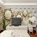 billige Veggklistremerker-bakgrunns / Veggmaleri / Wall Cloth Lerret Tapetsering - selvklebende nødvendig Blomstret / Art Deco / 3D
