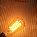 ราคาถูก หลอดไฟ-1pc 40 W E26 / E27 ST64 เหลือง โปร่งใสร่างกาย 220-240 V