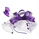 Χαμηλού Κόστους Καπέλα και Διακοσμητικά-Γυναικεία κυρίες Βίντατζ Πάρτι Κομψό Φτερό Ύφασμα Τιάρες Γάμου Πάρτι / Βράδυ - Φλοράλ