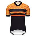 baratos Camisas Para Ciclismo-TELEYI Homens Manga Curta Camisa para Ciclismo Black / Orange Moto Camisa / Roupas Para Esporte Blusas Ciclismo de Montanha Ciclismo de Estrada Secagem Rápida Esportes Terylene Roupa / Micro-Elástica
