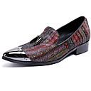 ราคาถูก รองเท้าแตะ & Loafersสำหรับผู้ชาย-สำหรับผู้ชาย รองเท้าอย่างเป็นทางการ แน๊บป้า Leather ตก ไม่เป็นทางการ / อังกฤษ รองเท้าส้นเตี้ยทำมาจากหนังและรองเท้าสวมแบบไม่มีเชือก นวด สีดำ / พรรคและเย็น / พรรคและเย็น / ใส่รองเท้า / สไตล์อินเดียนแดง