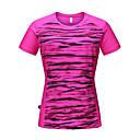 ราคาถูก หูฟังกีฬา-สำหรับผู้หญิง อำพราง Hiking T-shirt แขนสั้น กลางแจ้ง ระบายอากาศ Fast Dry เสื้อยึด Tops ฤดูใบไม้ผลิ ฤดูร้อน Polyester Taffeta ครูเน็ค สีเหลือง สีบานเย็น ฟ้า / ผสมยางยืดไมโคร