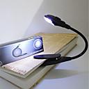 billiga Dekor och nattlampa-BRELONG® 1st Bokljus Vit Knapp Batteridriven Justerbar / Nödsituation / Enkel att bära <5 V