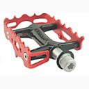 povoljno Sjedala i cijevi sjedala-Pedaline za brdski bicikl Ravna i položena pedala Zatvoreni ležaj Anti-Slip Izdržljivost 3 Bearing Aluminum Alloy za Biciklizam Cestovni bicikl Mountain Bike Rekreativna vožnja biciklom Crvena
