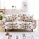 baratos Cobertura de Sofa-Cobertura de Sofa Plantas Fios Tingidos Misto de Poliéster e Algodão Capas de Sofa
