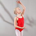 ราคาถูก ชุดเต้นสำหรับเด็ก-ชุดเต้นสำหรับเด็ก / ชุดเต้นบัลเล่ย์ ชุดแนบเนื้อสำหรับการเต้น เด็กผู้หญิง การฝึกอบรม / Performance ฝ้าย กระโปรงระบาย เสื้อไม่มีแขน ธรรมชาติ ชุดแนบเนื้อสำหรับการเต้น