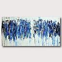 זול ציורים מופשטים-ציור שמן צבוע-Hang מצויר ביד - מופשט עכשווי מודרני כלול מסגרת פנימית