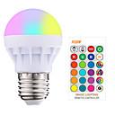 Χαμηλού Κόστους Έξυπνες LED Λάμπες-1pc 3 W LED Έξυπνες Λάμπες 200-250 lm E26 / E27 1 LED χάντρες SMD 5050 Smart Με ροοστάτη Τηλεχειριζόμενο RGBW 85-265 V / RoHs