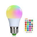 Χαμηλού Κόστους Έξυπνες LED Λάμπες-1pc 3 W LED Έξυπνες Λάμπες 200-250 lm E26 / E27 1 LED χάντρες SMD 5050 Smart Με ροοστάτη Τηλεχειριζόμενο RGBW 85-265 V / RoHs / FCC