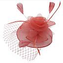 povoljno Party pokrivala za glavu-Žene dame Vintage Zabava Elegantno Perje Tekstil Tiaras Vjenčanje Zabava / večer - Cvjetni print