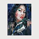 billiga Människomålningar-Hang målad oljemålning HANDMÅLAD - Människor Moderna Utan innerram