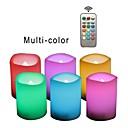 povoljno Ukrasna svjetla-6kom LED noćno svjetlo / Plamene svijeće RGB + Topla Gumb Baterija pogonjena Sigurnost / Jednostavno za nošenje / Lampa atmosfere