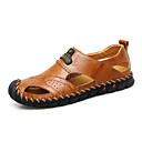 ราคาถูก รองเท้าผ้าใบผู้ชาย-สำหรับผู้ชาย รองเท้าสบาย ๆ แน๊บป้า Leather ฤดูใบไม้ผลิ / ฤดูร้อน Sporty / ไม่เป็นทางการ รองเท้าแตะ ระบายอากาศ สีดำ / สีน้ำตาล / กลางแจ้ง