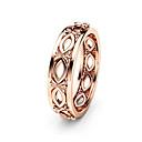 povoljno Modno prstenje-Žene Band Ring Prsten 1pc Rose Gold Kamen Pozlata od crvenog zlata Geometric Shape Stilski Luksuz Europska Vjenčanje Party Jewelry Cvijet Slatko
