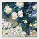 Χαμηλού Κόστους Πίνακες με Λουλούδια/Φυτά-Hang-ζωγραφισμένα ελαιογραφία Ζωγραφισμένα στο χέρι - Αφηρημένο Μοντέρνα Περιλαμβάνει εσωτερικό πλαίσιο