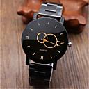 voordelige Digitaal Horloge-Heren Dress horloge Kwarts Roestvrij staal Zwart / Zilver Kalender Vrijetijdshorloge Analoog Informeel Modieus - Zwart Zilver