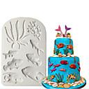 billige Bakeredskap-3d silikon mold sea fondant kake dekorere sjøstjerne skall sjokolade gumpaste mold