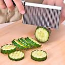 billiga Frukt och grönsakstillbehör-potatis vågformad kniv rostfritt stål köksredskap skärande verktyg