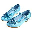 olcso Magas sarkú cipők tinédzsereknek-Lány Virágoslány cipők / Apró Heels Teens Szatén Magassarkúak Tipegő (9m-4ys) / Kis gyerekek (4-7 év) / Nagy gyerekek (7 év +) Strasszkő / Gyöngydíszítés Forgásc / Kék Tavasz / Ősz / Esküvő / Esküvő