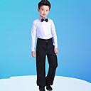 billiga Danskläder till barn-Latinamerikansk dans / Barndanskläder Outfits Pojkar Träning / Prestanda Polyester Rosett(er) / Kombination Långärmad Topp / Byxor / Krage