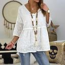 povoljno Modne narukvice-Bluza Žene Jednobojni V izrez Crn