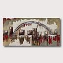 Χαμηλού Κόστους Αφηρημένοι Πίνακες-Hang-ζωγραφισμένα ελαιογραφία Ζωγραφισμένα στο χέρι - Αφηρημένο Σύγχρονο Μοντέρνα Περιλαμβάνει εσωτερικό πλαίσιο
