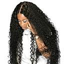 povoljno Perike s ljudskom kosom-Remy kosa Ljudska kosa 4x13 Zatvaranje Lace Front Perika Duboko udaljavanje stil Peruanska kosa Kovrčav Natural Crna Perika 250% Gustoća kose s dječjom kosom Prirodna linija za kosu Afro-američka