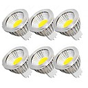 billiga Strålkastare-6pcs 5 W LED-spotlights 450 lm MR16 MR16 10 LED-pärlor COB Party Dekorativ Julbröllopsdekoration Varmvit Kallvit 12 V / RoHs