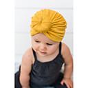 billige Barn Luer & Caps-Baby Jente Grunnleggende / Søt Ensfarget Lin Luer & Kaps Grå / Lilla / Gul En Størrelse