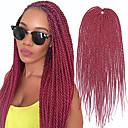 billige Hårfletter-Hår til fletning Rett Forlengere Heklet hårfletting Syntetisk hår 30 røtter / pakke Hårfletter Svart 18 tommers 46cm syntetisk Faux Locs Parykk Jamaican Fest Fest & Aften Ytelse Annen