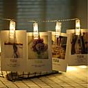 ราคาถูก สายไฟ LED-3M ไฟสาย 20 ไฟ LED ขาวนวล ตกแต่งงานแต่งงานในเทศกาลคริสต์มาส ใช้แบตเตอรี่ AA / แบตเตอรี่ขับเคลื่อน 1pc