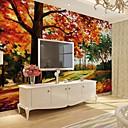 Χαμηλού Κόστους Τοιχογραφία-ταπετσαρία / Τοιχογραφία Καμβάς Κάλυψης τοίχων - κόλλα που απαιτείται Ζωγραφιά / Δέντρα / Φύλλα / Art Deco