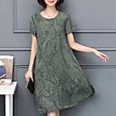 billige Fashion Rings-Dame Store størrelser Løstsittende Chiffon Kjole - Geometrisk, Trykt mønster Knelang