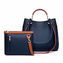 ราคาถูก กระเป๋าถือ-สำหรับผู้หญิง ซิป PU ชุดกระเป๋า สีทึบ ชุดกระเป๋าเงิน 2 ใบ สีดำ / สีแดงชมพู / สีน้ำเงิน