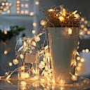 billiga Fiskbeten och flugor-3M Ljusslingor 20 lysdioder Varmvit / Vit / Multifärg Kreativ / Party / Dekorativ AA Batterier Drivs 1st