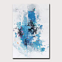 billige Abstrakte malerier-Hang malte oljemaleri Håndmalte - Abstrakt Vintage Moderne Uten Indre Ramme