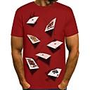 Χαμηλού Κόστους Σακίδια μόδας-Ανδρικά T-shirt 3D Στρογγυλή Λαιμόκοψη Μαύρο / Μακρυμάνικο