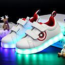 זול LED Shoes-בנים / בנות נוחות / נעליים זוהרות עור / דמוי עור נעלי ספורט פעוט (9m-4ys) / ילדים קטנים (4-7) / ילדים גדולים (7 שנים +) שרוכים / וו ולולאה / LED לבן / שחור סתיו