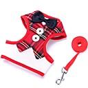ราคาถูก เสื้อผ้าสำหรับสุนัข-สุนัข เชือกจูงสุนัข เดินเท้า น่ารัก Safety Plaid / Check ประดับโบว์ ผ้า ไนลอน แดง แบล็ค