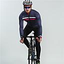 ราคาถูก เครื่องประดับร่างกาย-BOESTALK สำหรับผู้ชาย แขนยาว Cycling Jersey with Bib Tights สีดำ ฟ้า ลายสก๊อต / ลายตาราง สลับ จักรยาน ระบายอากาศ กระเป๋าหลัง ฤดูหนาว กีฬา ผ้าขนแกะ ลายสก๊อต / ลายตาราง ขี่จักรยานปีนเขา Road Cycling