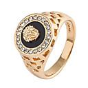 Χαμηλού Κόστους Αντρικά Δαχτυλίδια-Ανδρικά Δαχτυλίδι Cubic Zirconia 1pc Χρυσό Ασημί Κράμα Δώρο Καθημερινά Κοσμήματα Λιοντάρι
