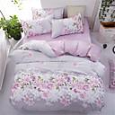 ราคาถูก ปลอกผ้าห่มลายดอกไม้-ชุดผ้านวมคลุม ลายดอกไม้ Polyster Printed 4 ชิ้นBedding Sets
