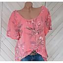 Χαμηλού Κόστους Μοδάτα Σκουλαρίκια-Γυναικεία Μπλούζα Φλοράλ Λεπτό Λουλουδάτο Ανθισμένο Ροζ / Άνοιξη / Καλοκαίρι / Φθινόπωρο / Χειμώνας