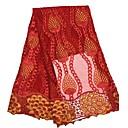ราคาถูก African Lace-ลูกไม้แอฟริกัน ลวดลายดอกไม้ Pattern 120 cm ความกว้าง ผ้า สำหรับ เครื่องแต่งกายและแฟชั่น ขาย โดย 5Yard