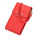 Χαμηλού Κόστους Τσάντες χιαστί-Γυναικεία PU Κινητό τηλέφωνο τσάντα Συμπαγές Χρώμα Μαύρο / Ουρανί / Ανθισμένο Ροζ / Φθινόπωρο & Χειμώνας