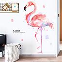 povoljno Anime kostimi-ins djevojka srce soba ukrasi flamingo zidne naljepnice neto crvena spavaća soba naljepnice najam kuća renoviranje naljepnice pozadina